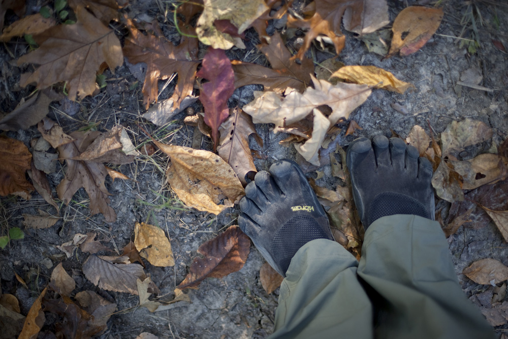 barefoot hiking in vibram 5 fingers