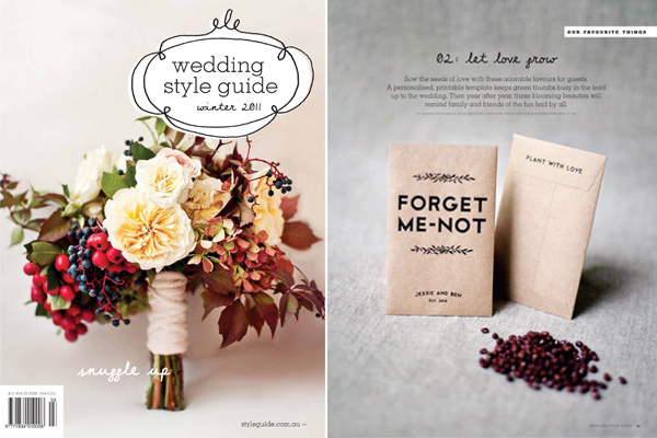magpie paper works printable seed envelopes featured in australian magazine