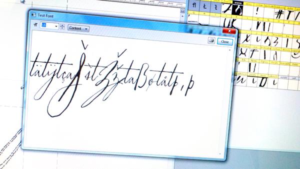Spacing Font in Progress