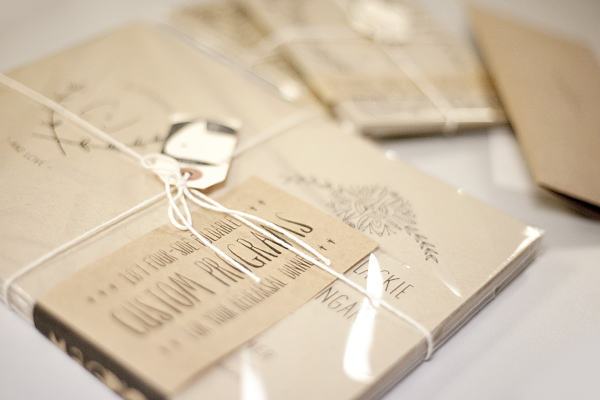 Texas wedding programs