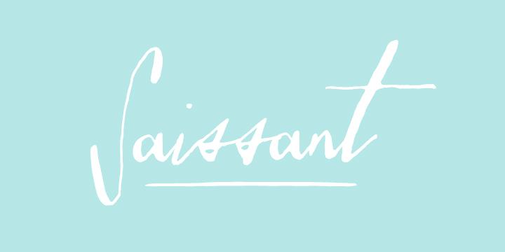 Saissant Calligraphy Font