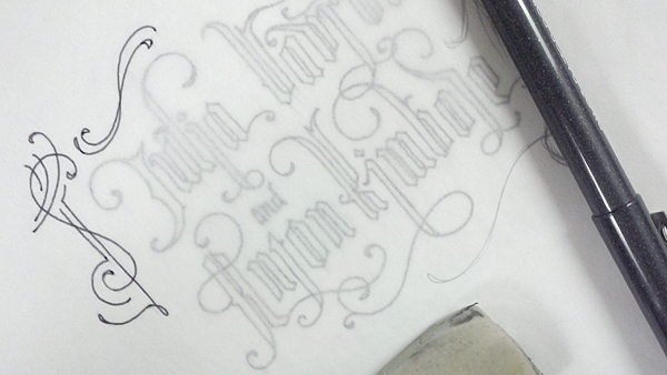 Black letter calligraphy