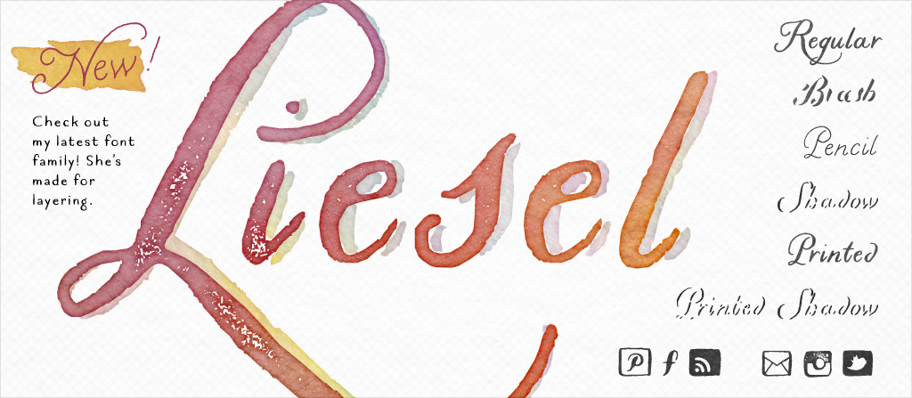 Water color Font