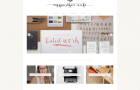 new website design for magpie paper works with calligraphy and watercolors and fonts