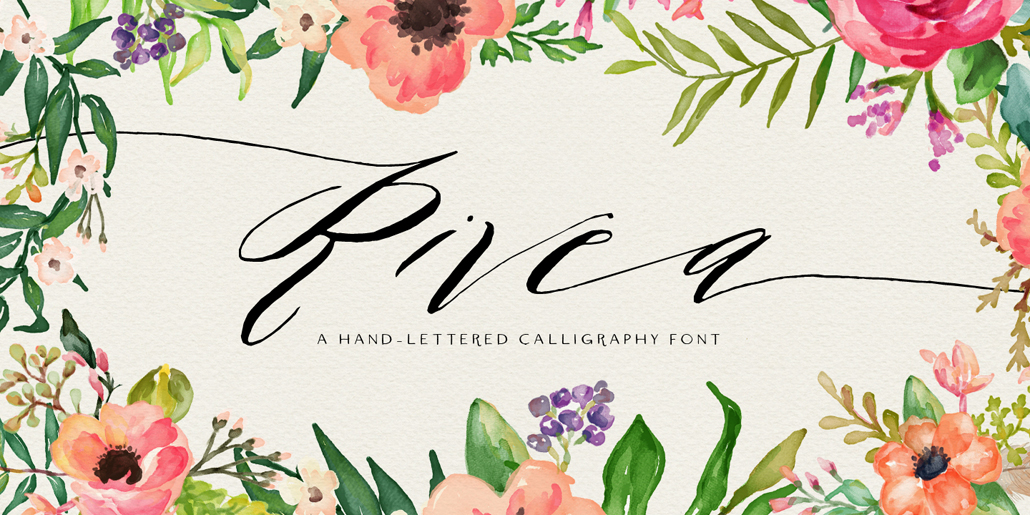 Cursive font that is slanted